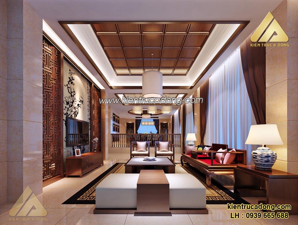 Mê mẩn với mẫu nội thất phòng khách phong cách Á Đông
