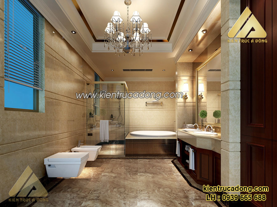Thiết kế nội thất nhà biệt thự đẹp phong cách châu Âu sang trọng