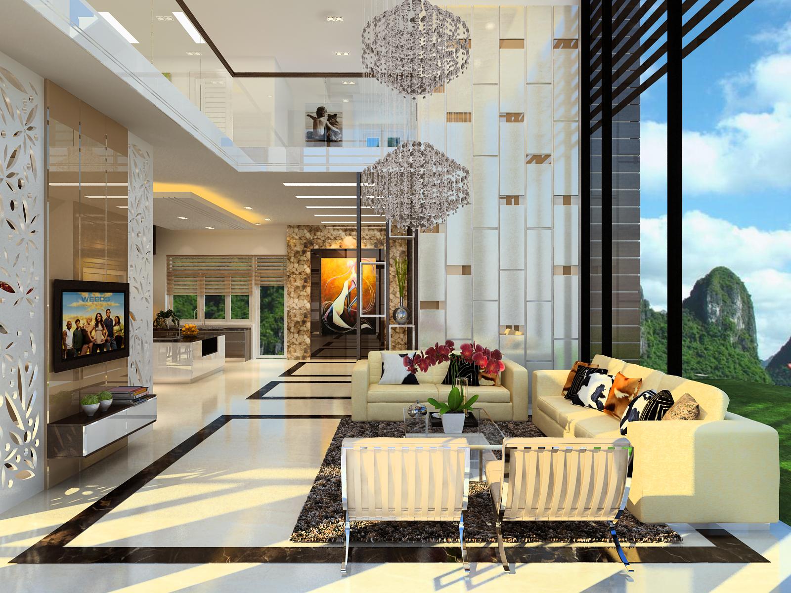 Cách hóa giải những điều cấm kỵ trong phong thủy thiết kế kiến trúc phòng khách