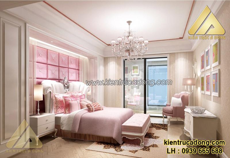 Mẫu nội thất phòng ngủ biệt thự tân cổ điển