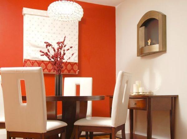 Thiết kế nội thất phòng ăn với gam màu đỏ cuốn hút
