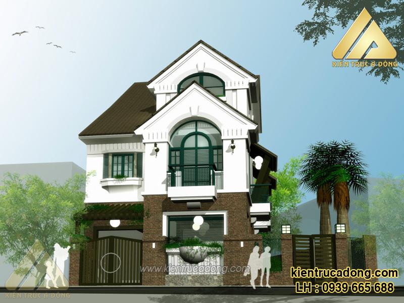 Mẫu thiết kế nhà biệt thự hiện đại 2,5 tầng đẹp