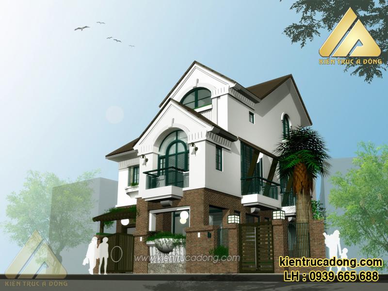 mẫu thiết kế nhà biệt thự 3 tầng