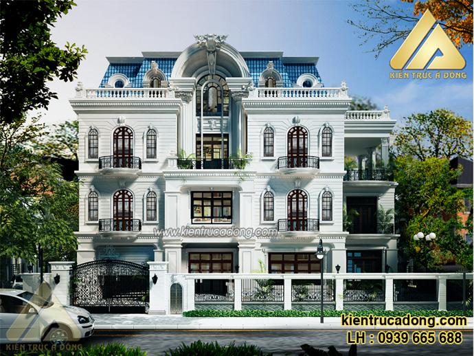 Mẫu biệt thự cổ điển 3 tầng đẹp
