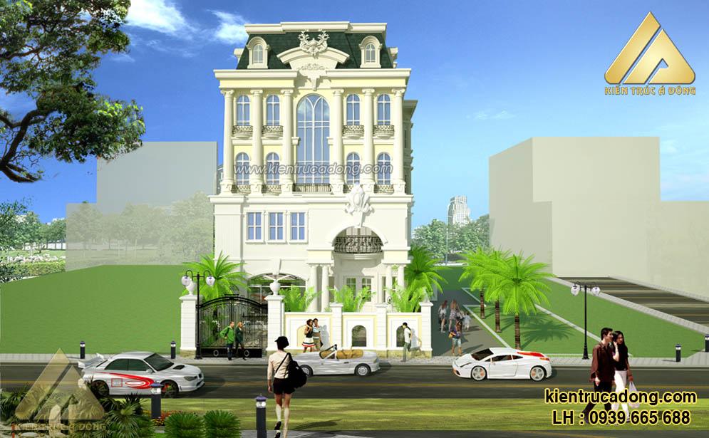 Mẫu thiết kế kiến trúc biệt thự lâu đài