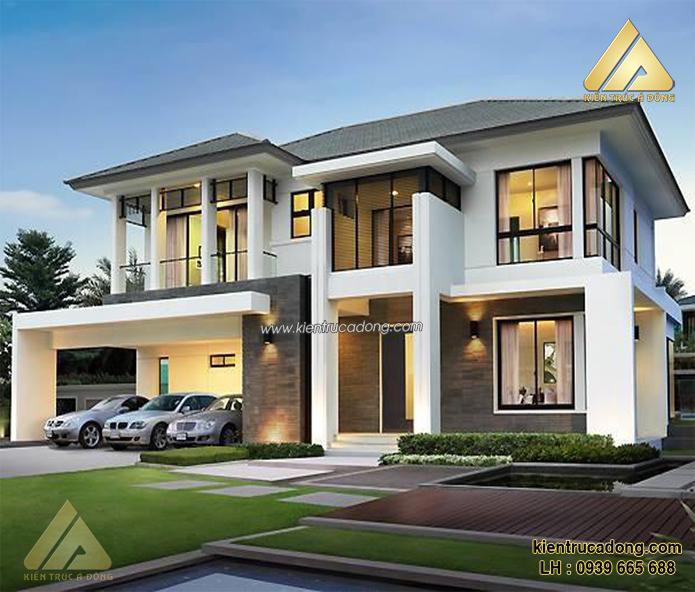 Tư vấn thiết kế thi công kiến trúc biệt thự đẹp trọn gói tại Hà Nội