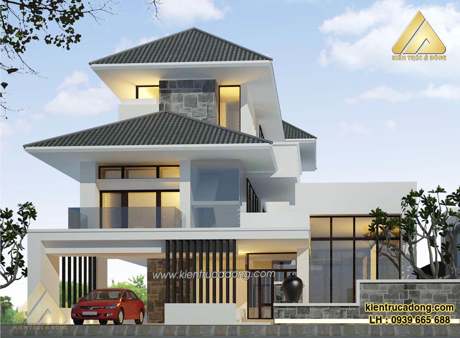 Mẫu nhà đẹp thiết kế biệt thự nghỉ dưỡng hiện đại