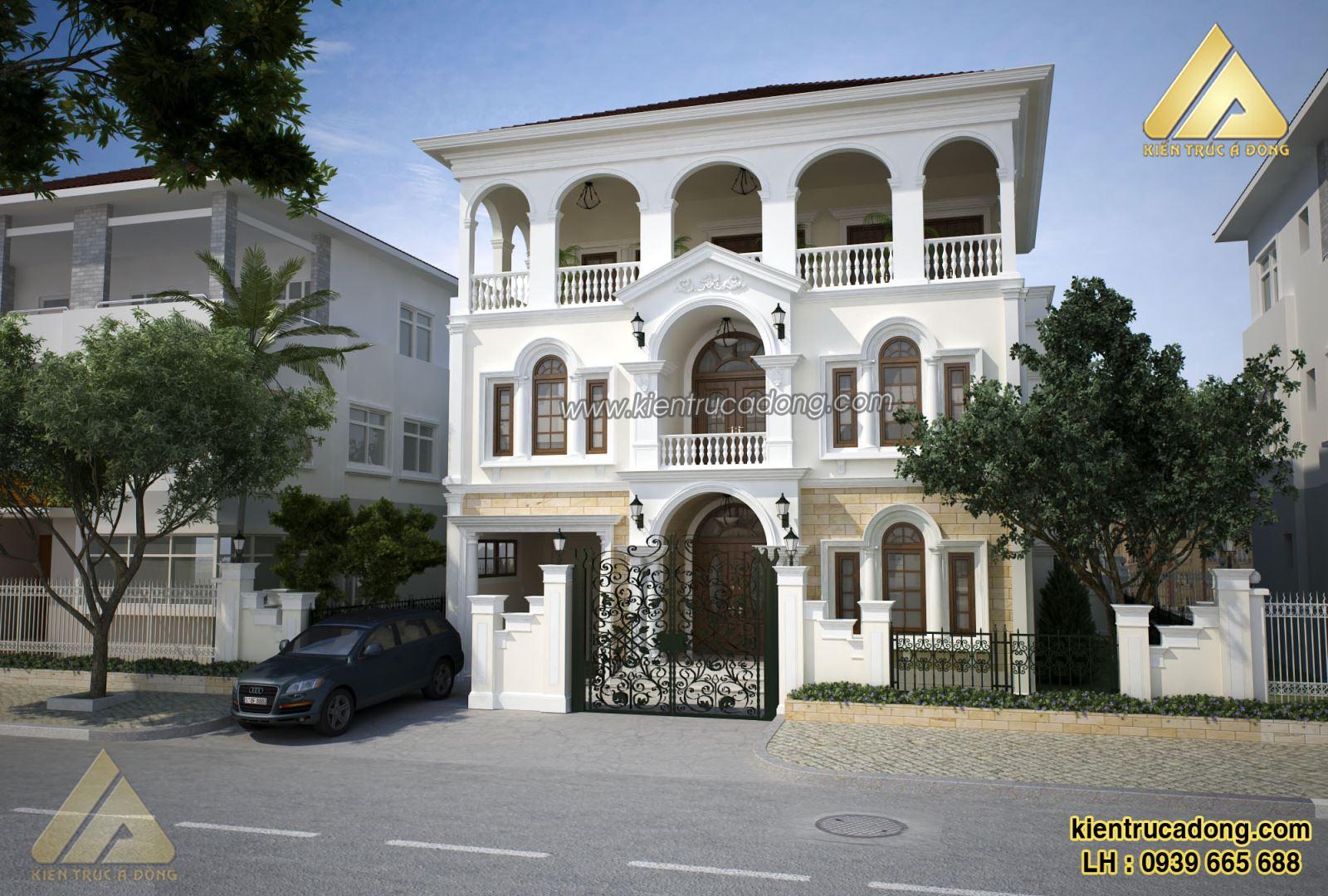 Mẫu nhà đẹp thiết kế biệt thự tân cổ điển