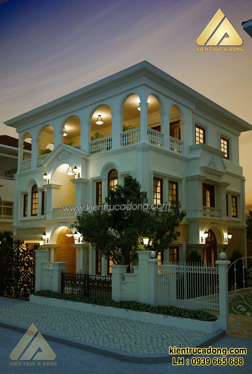 Mẫu nhà đẹp thiết kế biệt thự tân cổ điển TP Tuyên Quang