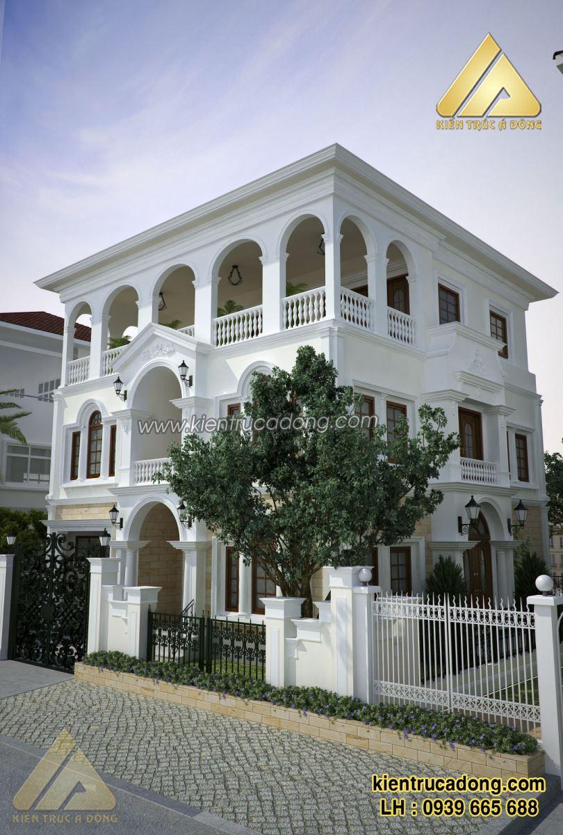 Mẫu thiết kế biệt thự tân cổ điển TP Tuyên Quang
