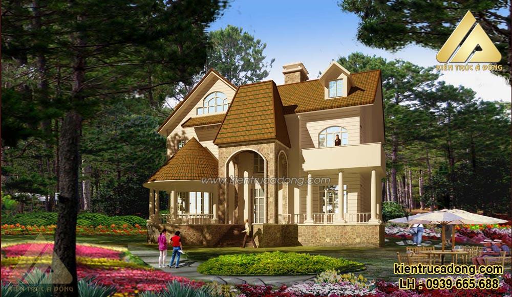 Mẫu thiết kế biệt thự cổ điển kiểu Pháp đẹp nhất