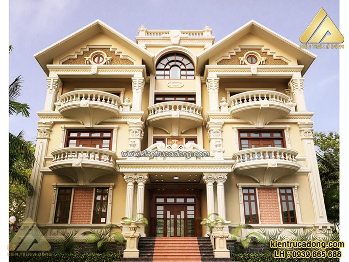 Mẫu nhà đẹp thiết kế biệt thự cổ điển Vũng Tàu
