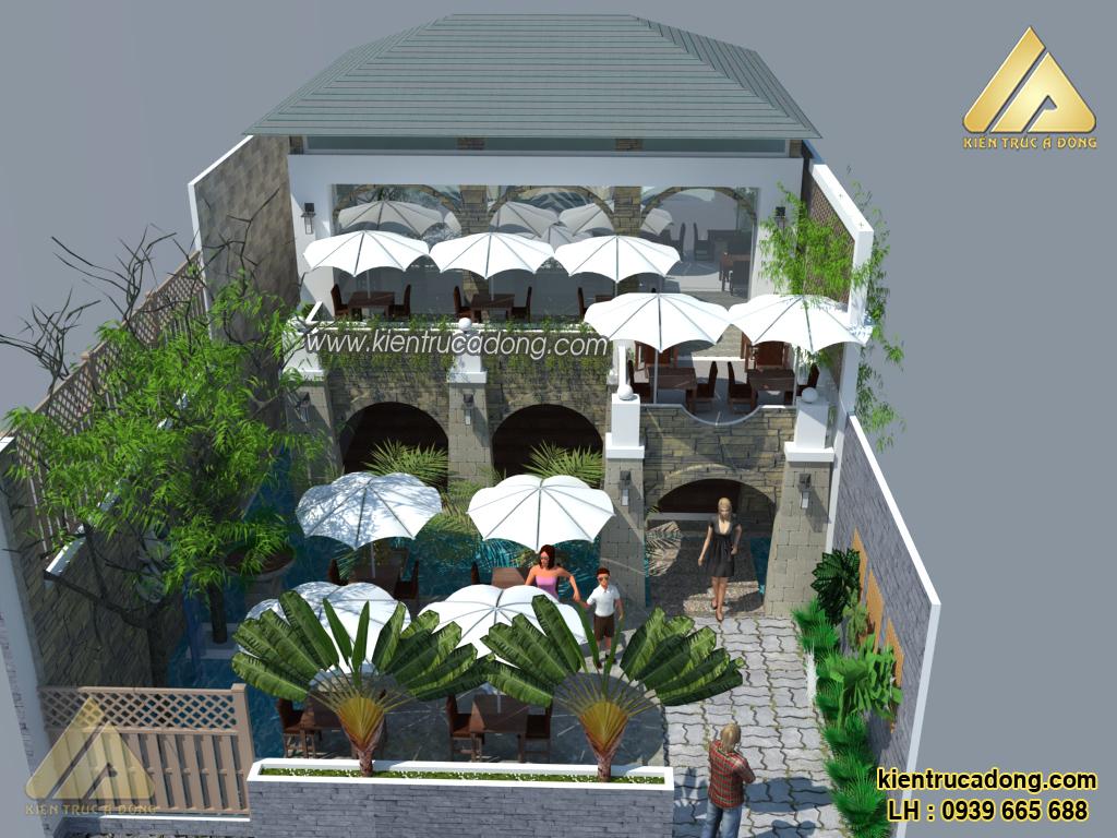 Cách thiết kế quán Cafe sân vườn đẹp