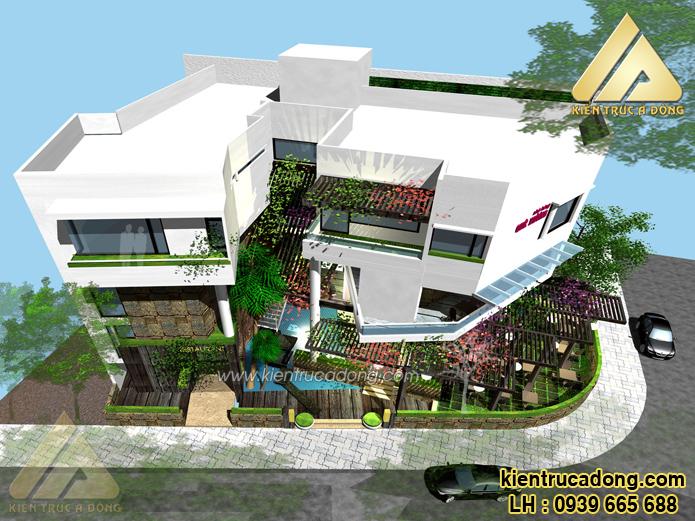 Thiết kế nhà hàng Quê Hương