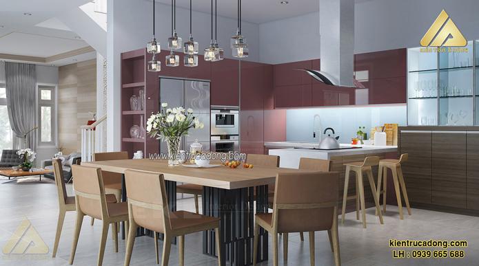 mẫu nội thất biệt thự đẹp phòng ăn