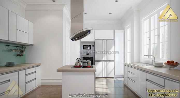 Thiết kế nội thất phòng bếp biệt thự hiện đại