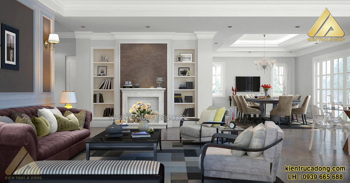 mẫu nội thất đẹp phòng khách nhà phố
