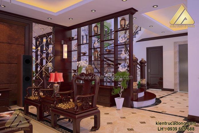 Mẫu thiết kế nội thất biệt thự đẹp hiện đại ở Gia Lâm, Hà Nội