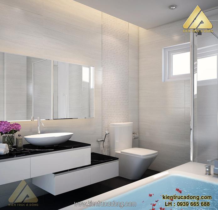 thiết kế nội thất phòng tắm và phòng vệ sinh biệt thự