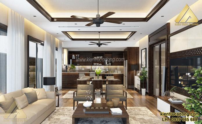 mẫu thiết kế nội thất chung cư phòng khách đẹp