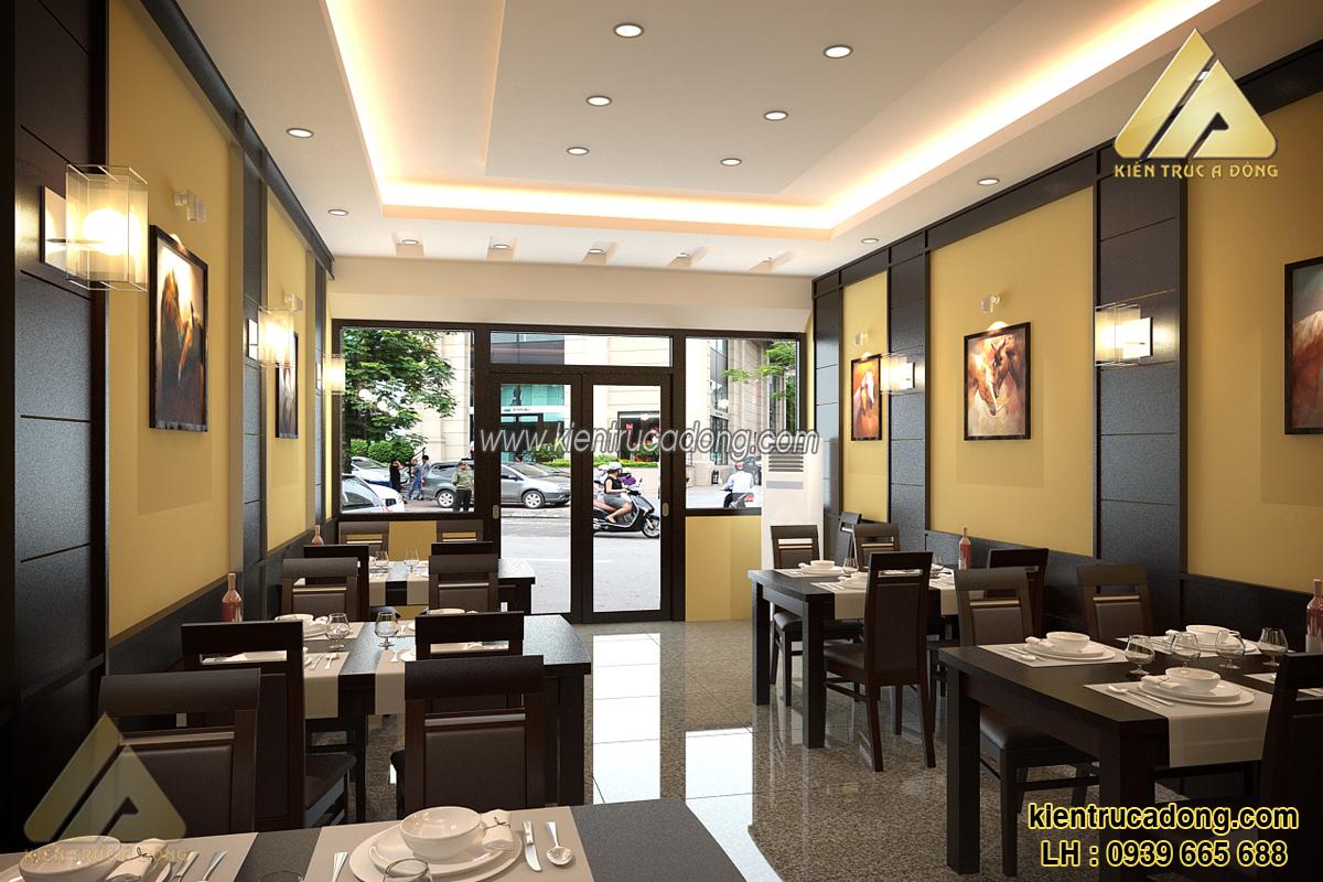 Dịch vụ thiết kế nội thất nhà hàng trọn gói, giá rẻ