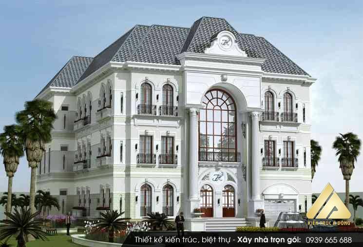Biệt thự 3 tầng kiến trúc Pháp