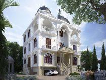 Mẫu nhà biệt thự 3 tầng một mặt tiền tuyệt đẹp