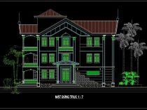 [Hỏi Xin] bản vẽ cad nhà biệt thự 3 tầng hiện đại