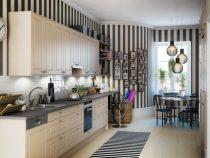 Tủ bếp mini gọn nhẹ tiếc kiệm không gian