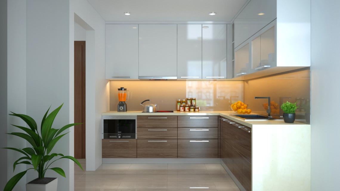 Kết quả hình ảnh cho tủ bếp gỗ acrylic