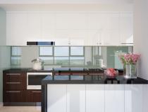 Thiết kế tủ bếp chữ I đẹp xu hướng của các nhà nội thất