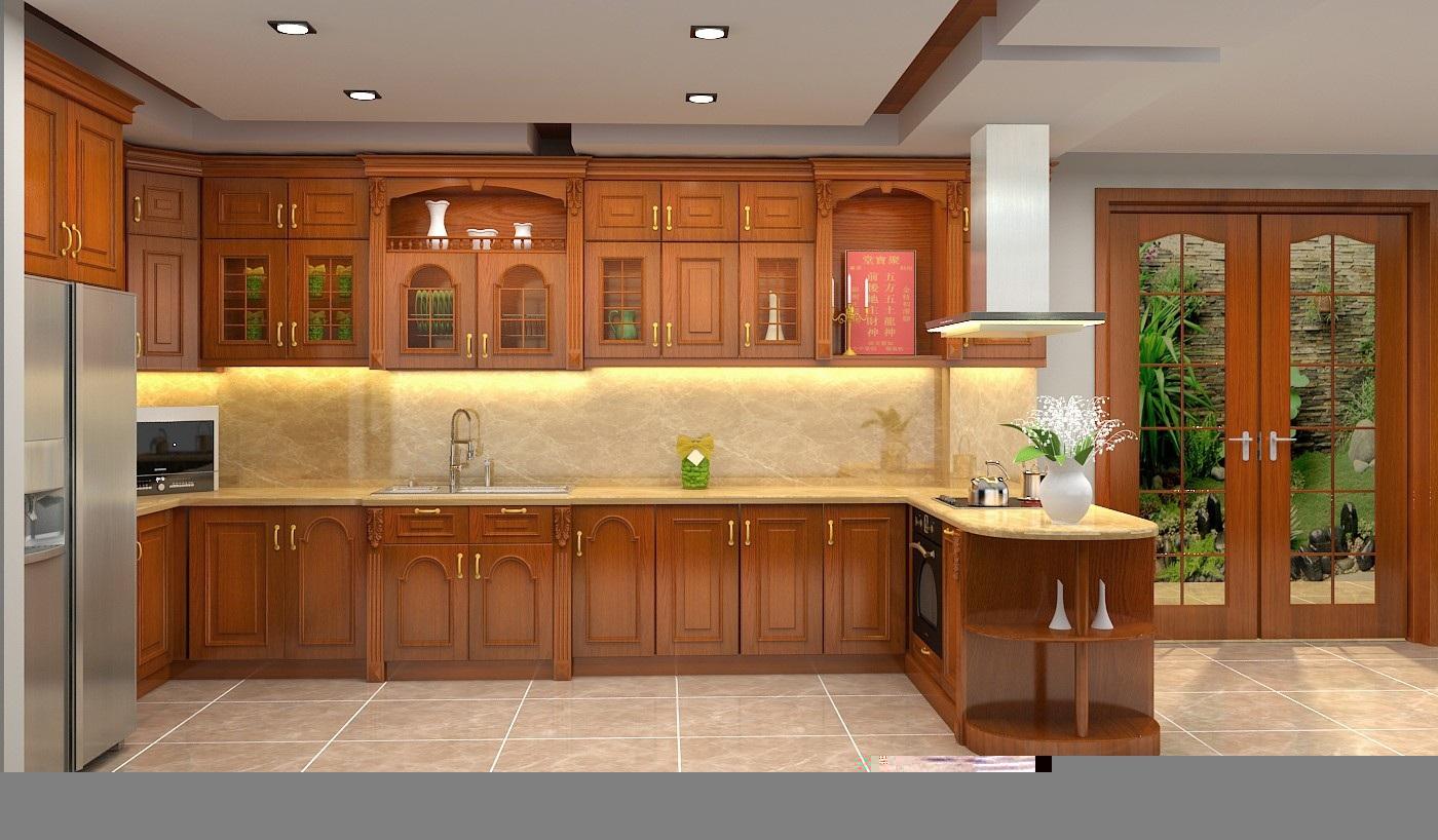 Kết quả hình ảnh cho tủ bếp gỗ tự nhiên