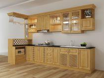 [Hỏi đáp giá] Giá tủ bếp gỗ xoan đào 2015