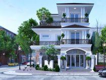 Nhà biệt thự 3 tầng mái Thái đẹp đẳng cấp