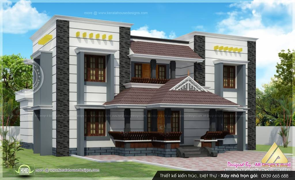 Thiết kế biệt thự 2 tầng cao cấp ở Vĩnh Phúc