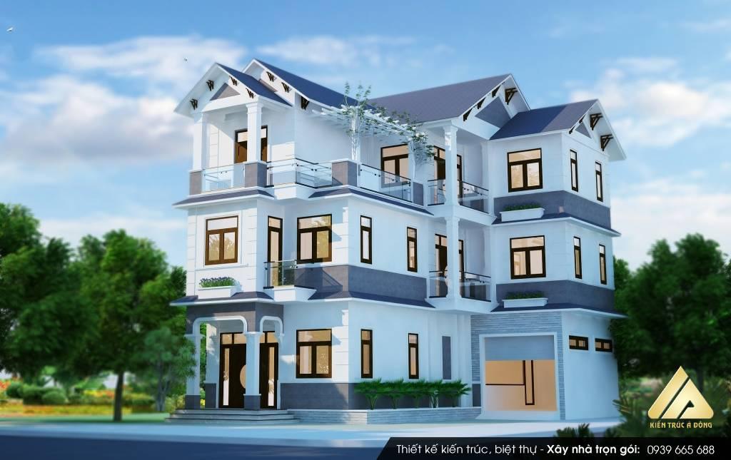 Mẫu thiết kế nhà biệt thự 3 tầng hiện đại TP Hà Nội