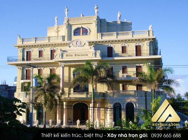 Mẫu thiết kế biệt thự Pháp cổ điển 3 tầng đẳng cấp, sang trọng.
