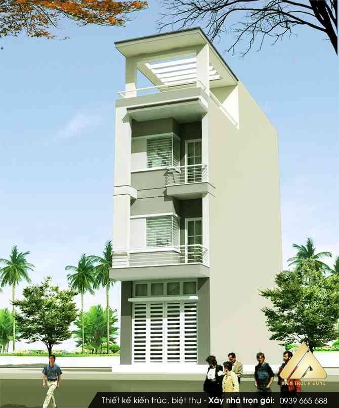 Mẫu thiết kế biệt thự hiện đại 5 tầng tại Bắc Ninh
