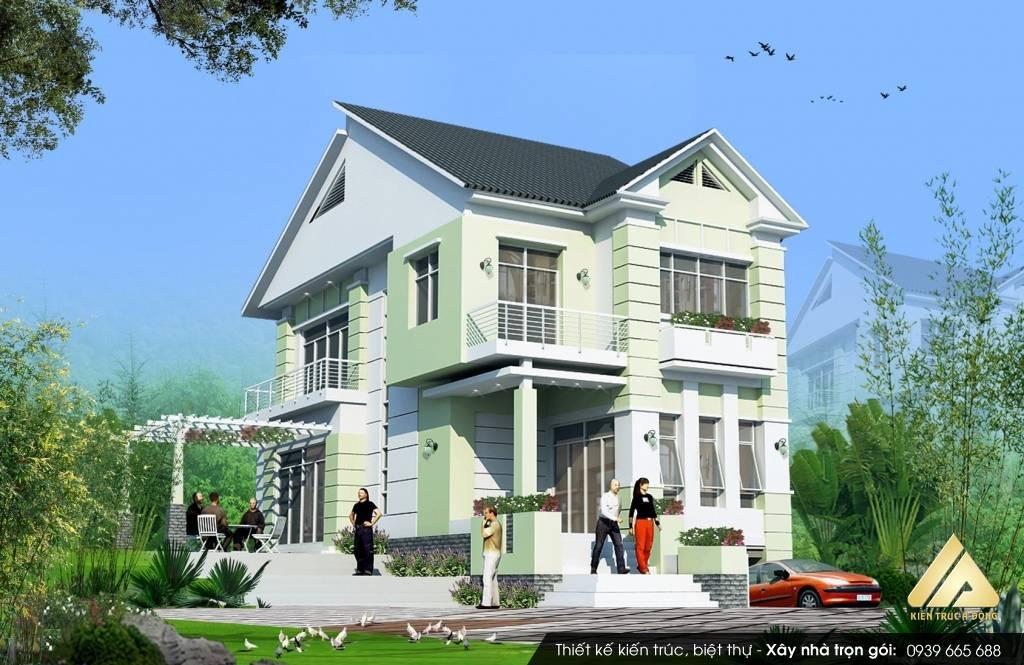 Mẫu biệt thự 2 tầng sang trọng hiện đại ở Ninh Bình