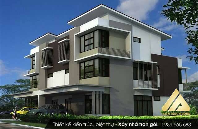 Mẫu thiết kế nhà biệt thự 4 tầng hiện đại, sang trọng