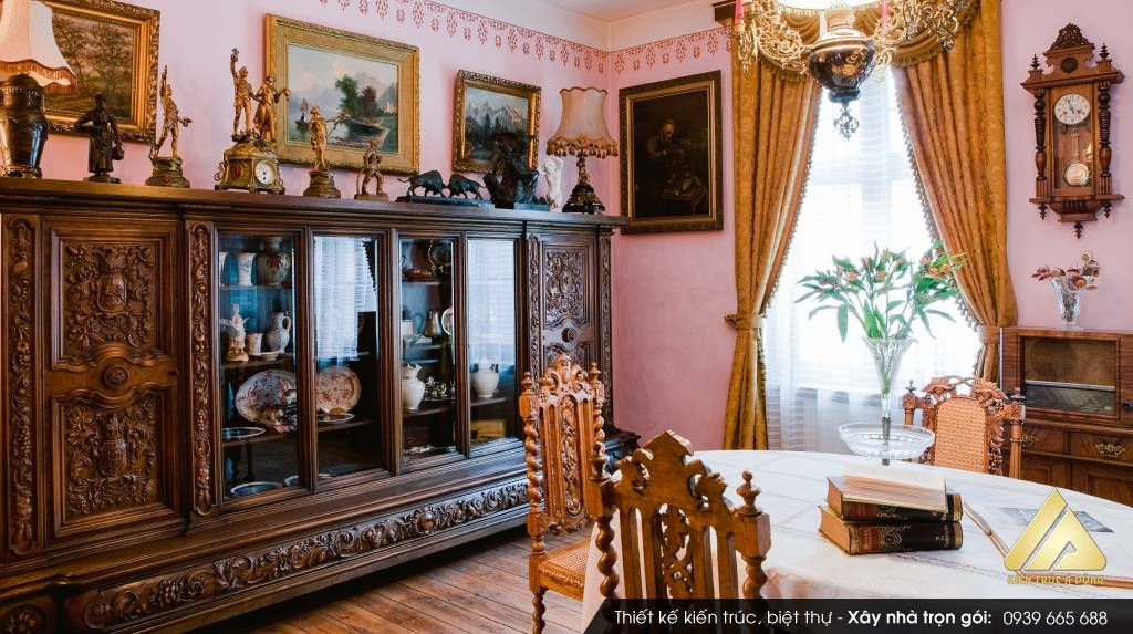 Thiết kế biệt thự cổ điển Châu Âu 3 tầng Gia Lâm Hà Nội