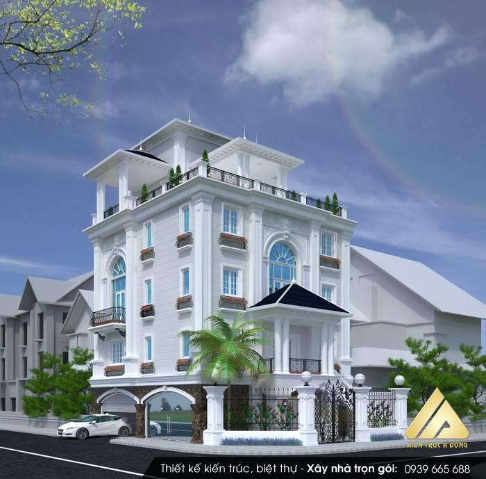 Mẫu biệt thự cổ điển đẹp, đẳng cấp tại TP Hà Nội