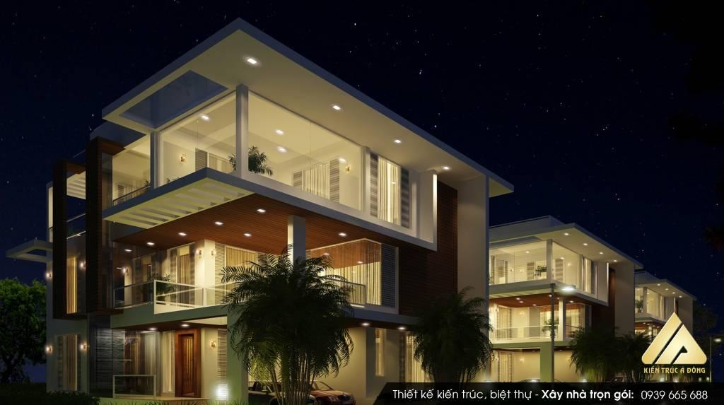 Thiết kế biệt thự phong cách hiện đại TP Nam Định