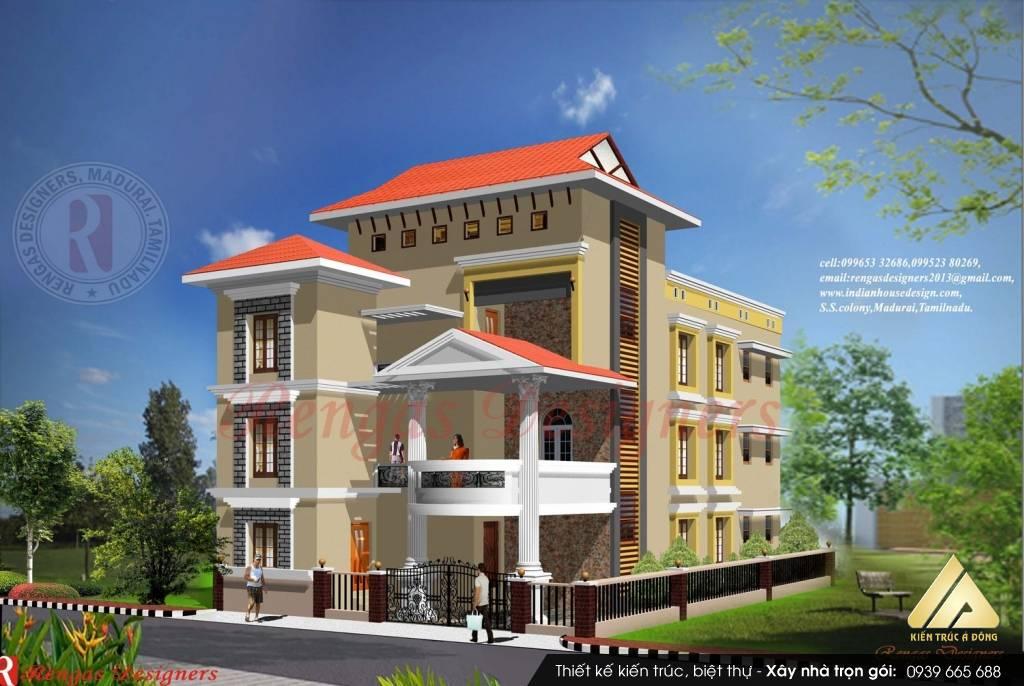 Mẫu biệt thự 3 tầng hiện đại đẹp tại thành phố Lào Cai