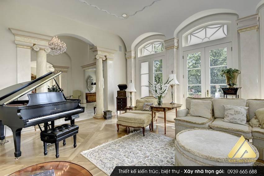 Mẫu nhà biệt thự cổ điển 2 tầng đẹp và đẳng cấp