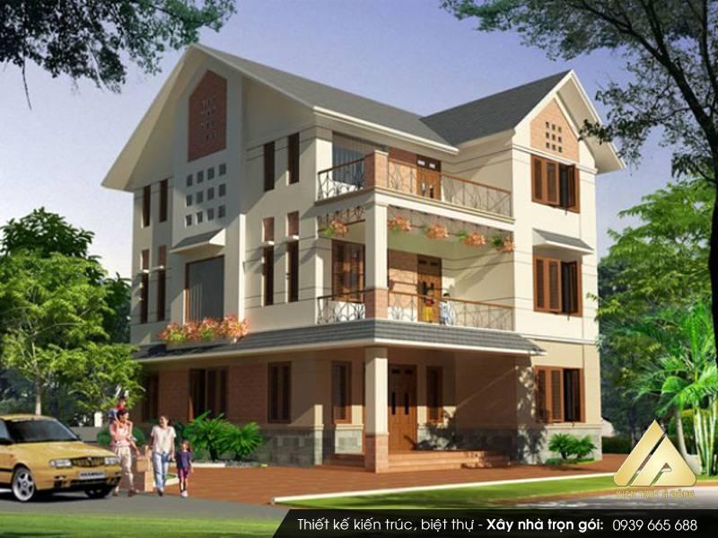 Mẫu thiết kế biệt thự hiện đại 3 tầng tại TP Sơn La