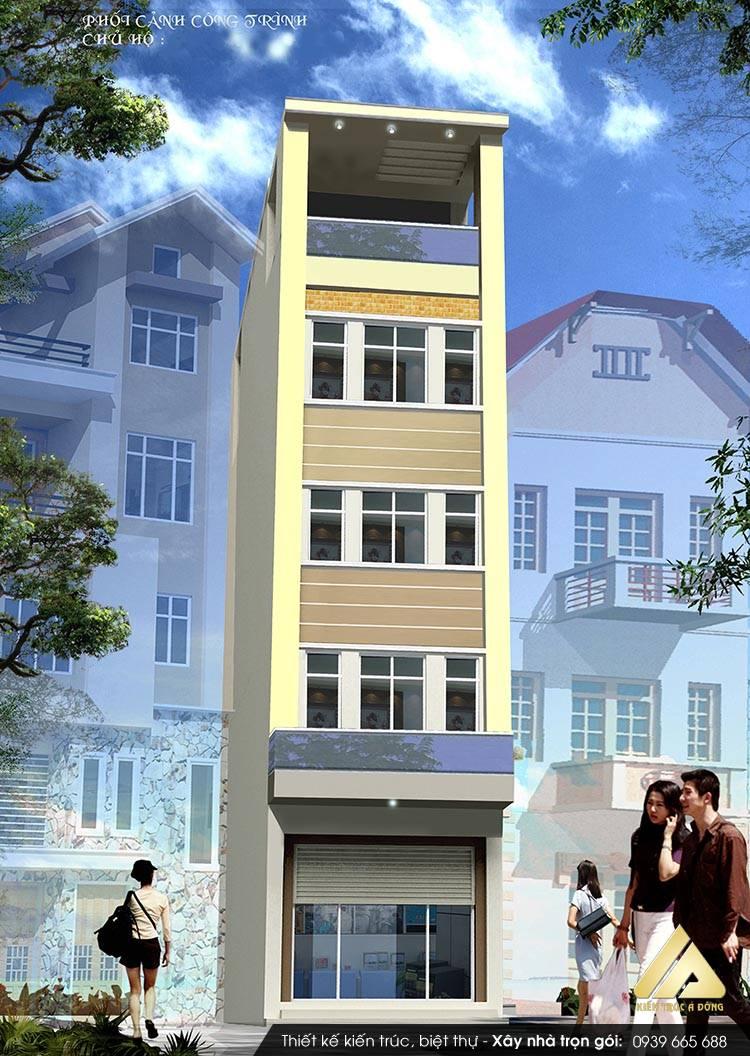 Thiết kế nhà phố 5 tầng đẹp đẳng cấp ở TP Hà Nội