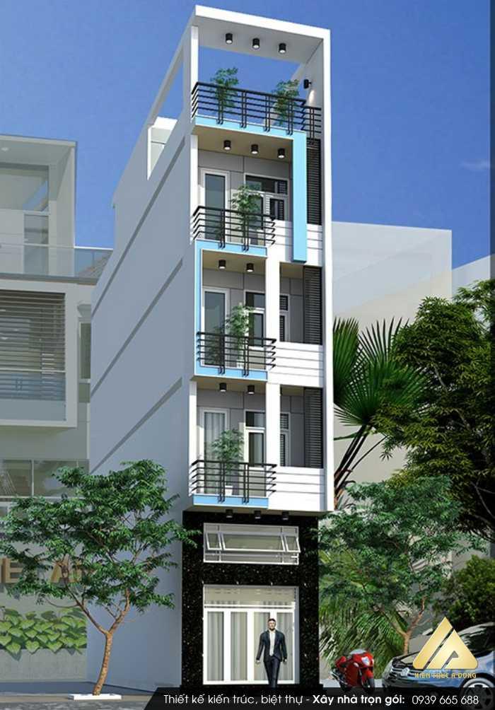 Mẫu thiết kế nhà phố 5 tầng đẹp tại Lào Cai