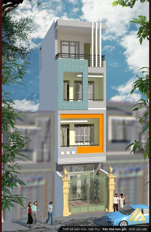 Mẫu nhà phố hiện đại 5 tầng tại Hà Nội