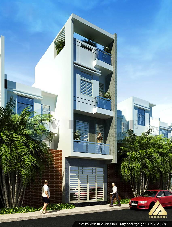 Mẫu nhà phố đẹp 4 tầng tại Long Biên, TP Hà Nội